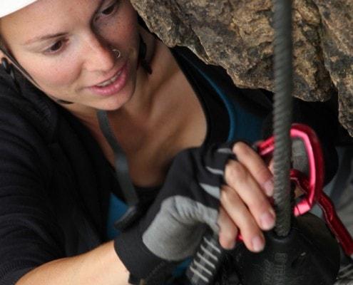 Doppelte Sicherheit mit dem Klettersteigset