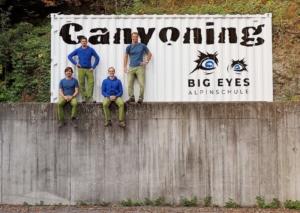 Canyoning Touren in Dornbirn in Vorarlberg mit dem Team von BIGEYES